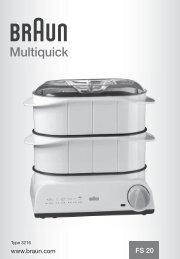 Multiquick - Braun Consumer Service spare parts use instructions ...