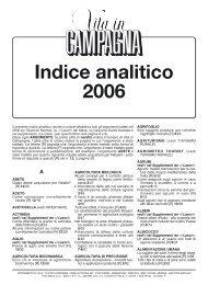 Indice analitico 2006 - L'Informatore Agrario