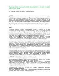 základný pohľad na systém manažérstva kvality podľa en iso 9001 ...