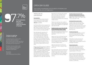 Open Day Guide - 24th October.pdf - Arts University Bournemouth