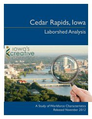 Cedar Rapids Laborshed 2012 - Iowa Workforce Development