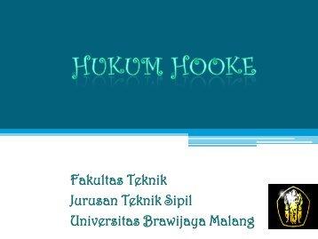 Mekban – Hukum Hooke - Universitas Brawijaya