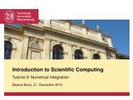 Introduction to Scientific Computing - Tutorial 9: Numerical Integration