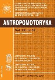 Antropomotoryka nr 57 [2012]. - Akademia Wychowania Fizycznego ...