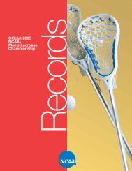 2005 ncaa men's lacrosse championships records book