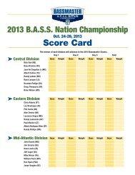 Scorecard - Bass