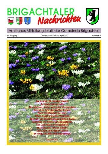Mitteilungsblatt Brigachtal 2012 16.pdf - Gemeinde Brigachtal