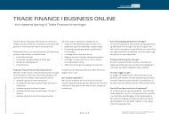 TRADE FINANCE I BUSINESS ONLINE - Danske Bank