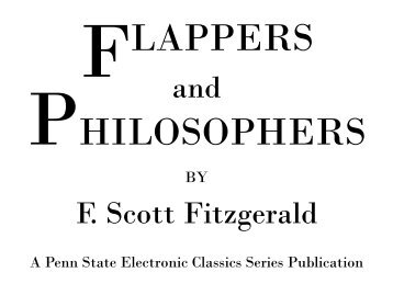 Flappers and Philosophers - Pennsylvania State University