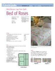 Bed of Roses - McCalls Quilting