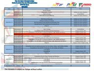 This Schedule is subject to change without no ce. - PATU