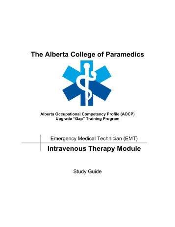 IV Therapy - Alberta College of Paramedics