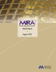 Annual Report • August 2004 - Maricopa Community Colleges