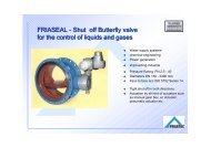 FRIASEAL - Shut off Butterfly valve for the control of liquids and gases