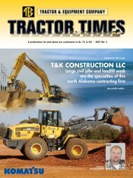 T&K CONSTRUCTION LLC - TEC Tractor Times