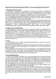 AGBs für Kaufleute - König Komfort- und Rennsitze GmbH