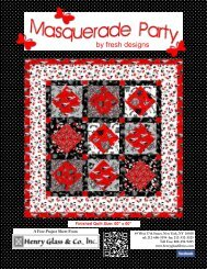 Masquerade Party FREE Pattern from Henry Glass!!