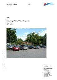 PM Parkeringsplatser i Älmhult centrum - Älmhults kommun