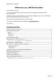 """Willkommen zum """"IBM DB2 Newsletter"""" - IBM Distribution"""