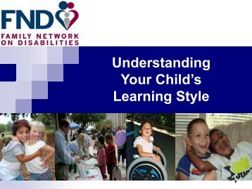 Understanding Your Child's Learning Style - The Family Network on ...