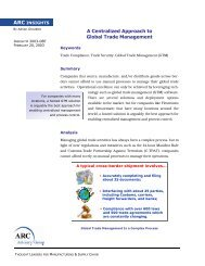 A Centralized Approach to Global Trade Management