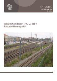 (RATO) osa 7 Rautatieliikennepaikat - Liikennevirasto