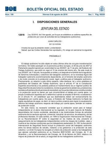 Ley 32/2010 - Fremap