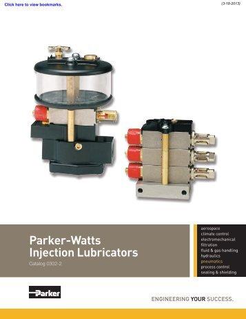 Parker-Watts Injection Lubricators - Watts Fluid Air