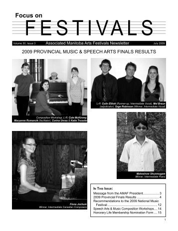Focus on Festivals - Volume 30, Issue 3 - Associated Manitoba Arts ...