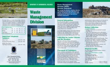 Waste Management Division Waste Management Division