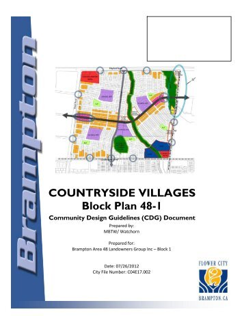 countryside villages community design guidelines - the City of ...