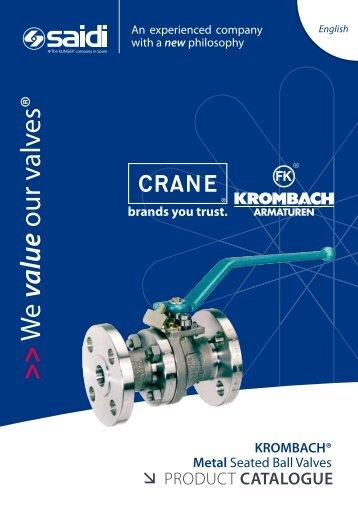 CRANE KROMBACH® Metal Seated Ball Valves Product ... - SAIDI