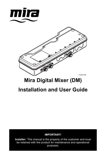 mira magna digital shower mixer