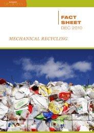 FACT SHEET Mechanical Recycling - European Bioplastics
