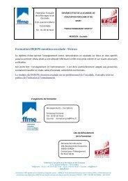 Formation DEJEPS mention escalade –Voiron - FFME