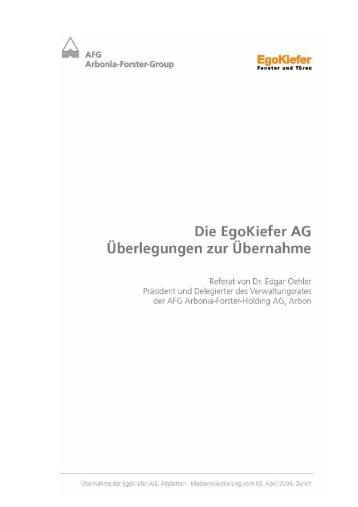 Untitled - AFG Arbonia-Forster-Holding AG