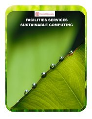 facilities services sustainable computing - Information Technology