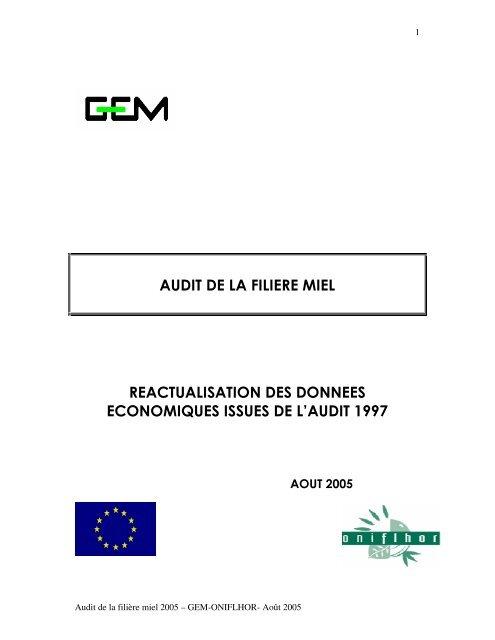Audit de la filière apicole - Union Nationale de l'Apiculture Française