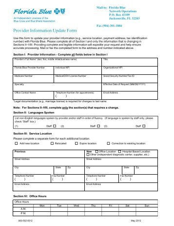 Claim Overpayment Refund Form - Provider Manual - Florida Blue