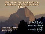Sustainable Recreation and Tourism - University of Utah