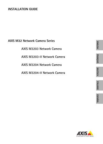 INSTALLATION GUIDE AXIS M32 Network Camera Series ... - IP Way