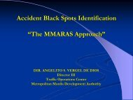 "Accident Black Spots Identification ""The MMARAS Approach"""