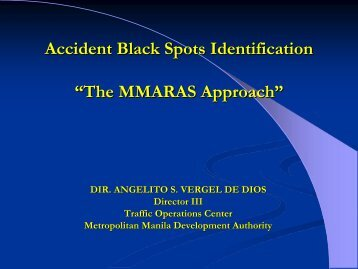 """Accident Black Spots Identification """"The MMARAS Approach"""""""