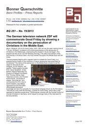 Bonner Querschnitte - Martin Bucer Seminar