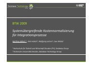 Talk - Datenbanken - Technische Universität Dresden