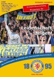 Heft 14: Wuppertaler SV - FanPresse Braunschweig