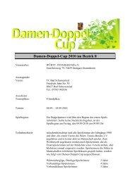 Damen-Doppel-Cup 2010 im Bezirk 8 - WTB