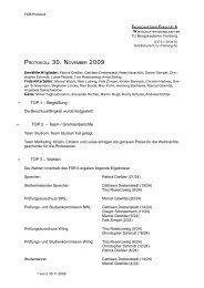 30.11.2009 - Fakultät 6 - TU Bergakademie Freiberg