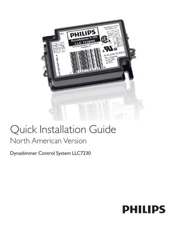 Quick Installation Guide - Philips Lighting