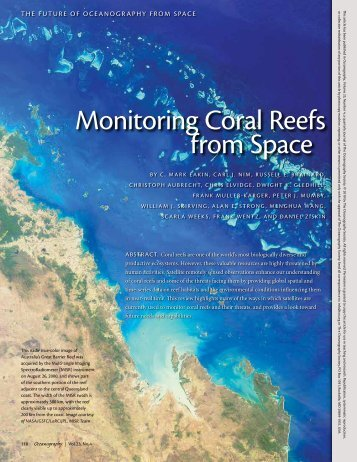 monitoring coral reefs from Space - Marine Spatial Ecology Lab